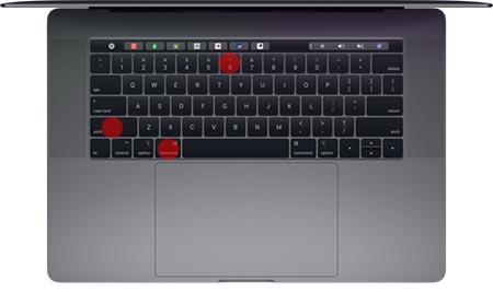 Catturare schermata della Touch Bar