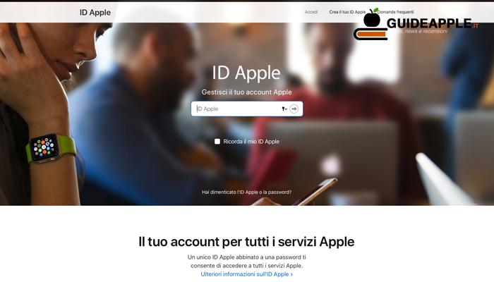 Recupero password ID Apple