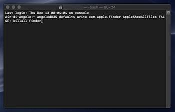 Come visualizzare sempre i file nascosti di Mac