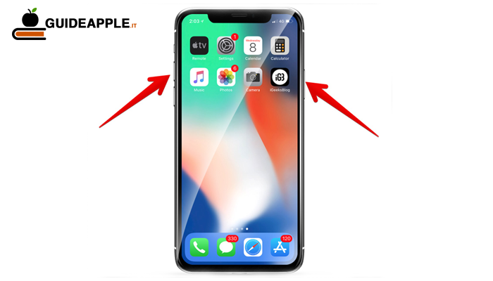 Come spegnere iPhone X, Xs, Xs MAX, Xr