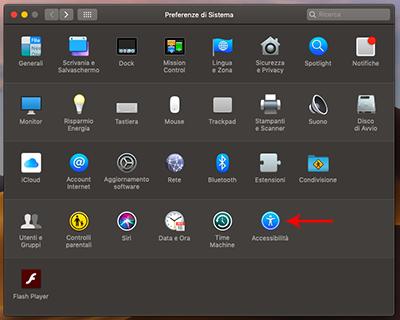 accesibilità mac
