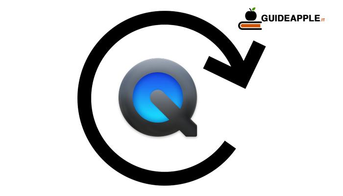 Come ruotare video Mac con QuickTime