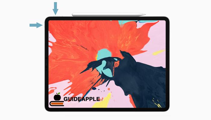 Come fare screenshot iPad Pro (nuovi)