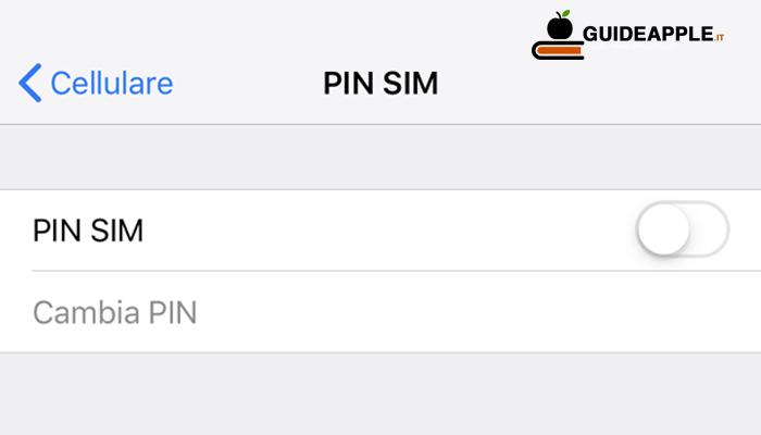 Come togliere PIN SIM iPhone