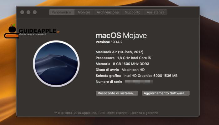 Come trovare numero di serie dei prodotti Apple