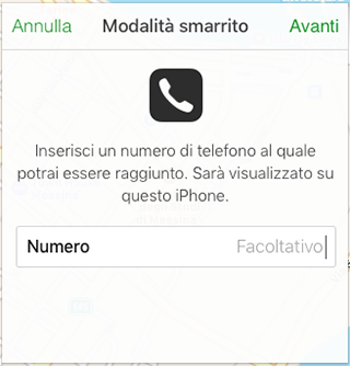 come abilitare modalità smarrito iphone