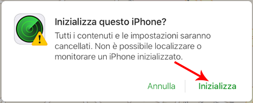 come inizializzare iphone da remoto