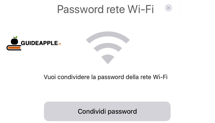 Come condividere password WiFi da iPhone e iPad