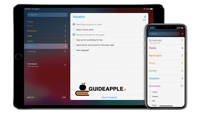 Come eliminare promemoria iPhone e iPad