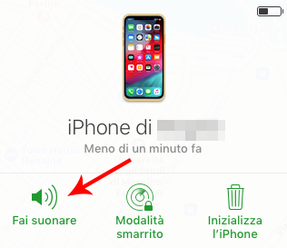 far suonare iphone da remoto