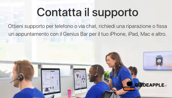 Come parlare con operatore Apple tramite chat o al telefono