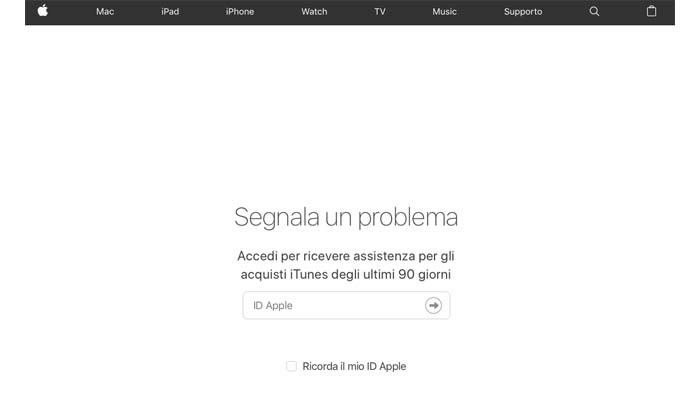 Come richiedere rimborso Apple Store