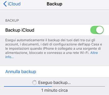backup iphone prima di venderlo