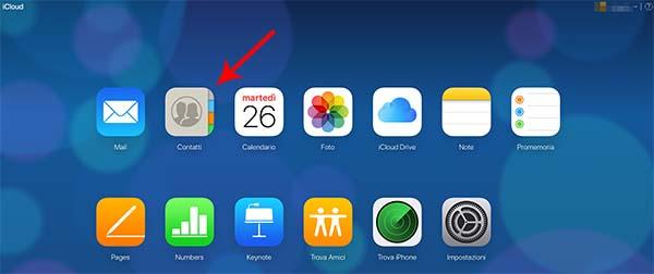 eliminare più contatti su iPhone tramite icloud