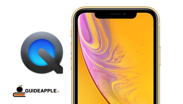 Come registrare schermo iPhone dal Mac