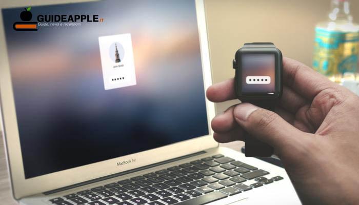 Come sbloccare Mac con Apple Watch