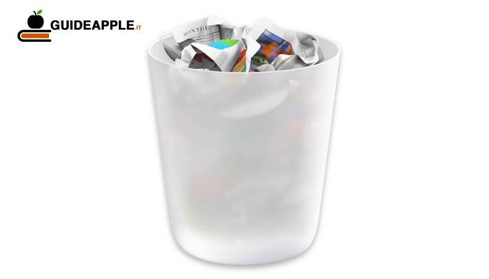 Svuotare cestino Mac file in uso: ecco risolvere il problema
