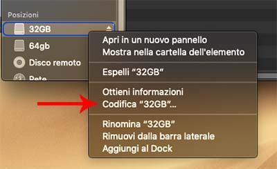 codifica pendrive mac