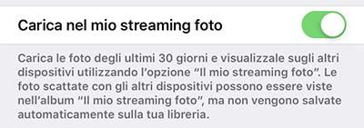 liberare spazio iphone - streaming foto