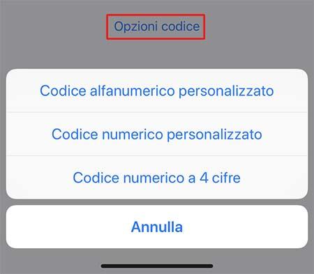 modifica codice iphone