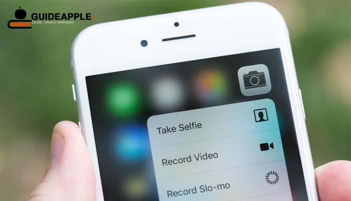 Il 3D Touch non sarà presente sui nuovi iPhone