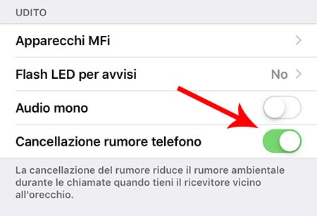 Problemi audio iPhone - cancellazione rumore
