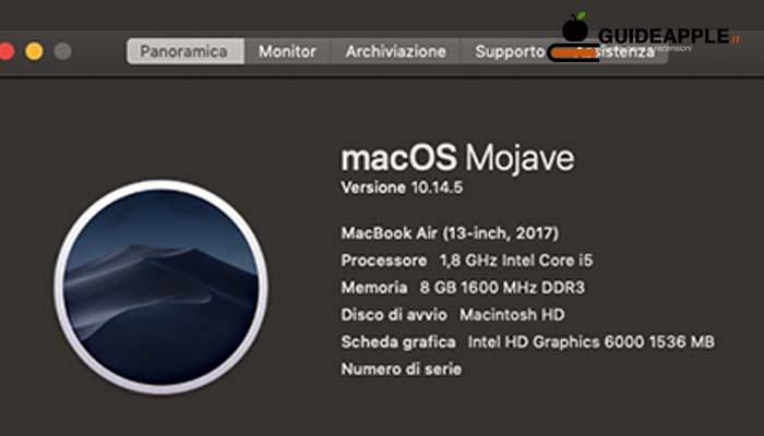 Trovare anno costruzione Mac