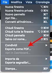 esportare pagina web come pdf