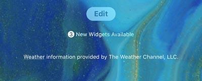 ios 13 Widget