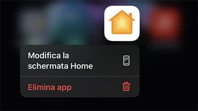 eliminare app da iOS 13