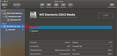 espellere chiavetta usb da mac utility disco