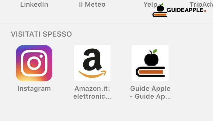 Come rimuovere siti visitati spesso con Safari su iOS