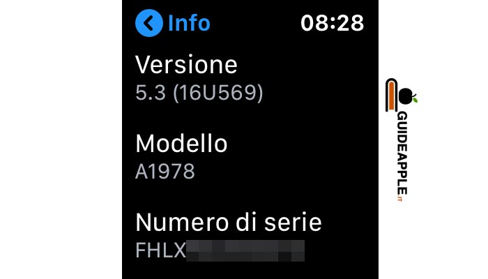 Come trovare numero di serie Apple Watch