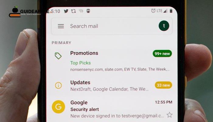 Aggiunto il supporto alle e-mail dinamiche su Gmail