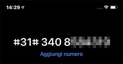 effettuare chiamate anonime da iphone