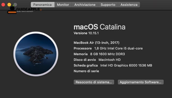 Come verificare quale versione di macOS è in esecuzione sul Mac