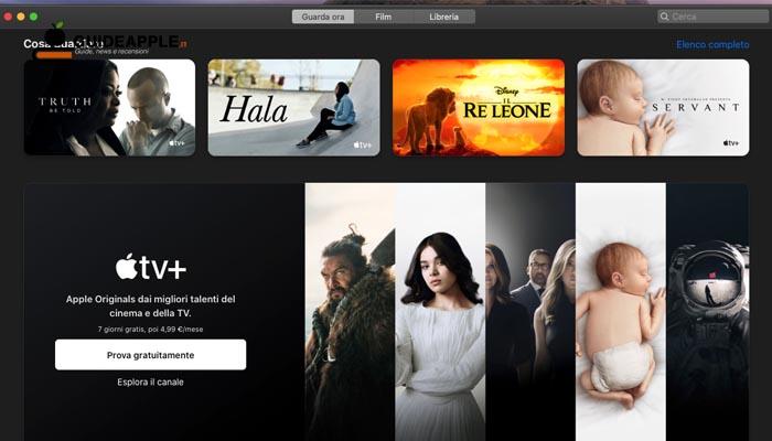 App TV macOS Catalina: che cos'è e come funziona