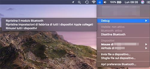 bluetooth mac non funziona