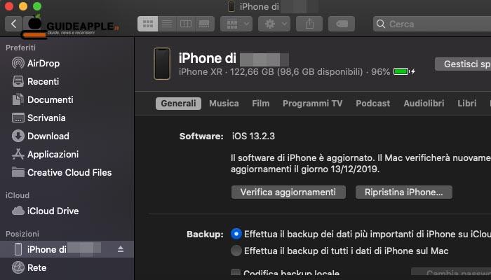 macOS Catalina: come sincronizzare iPhone con Mac
