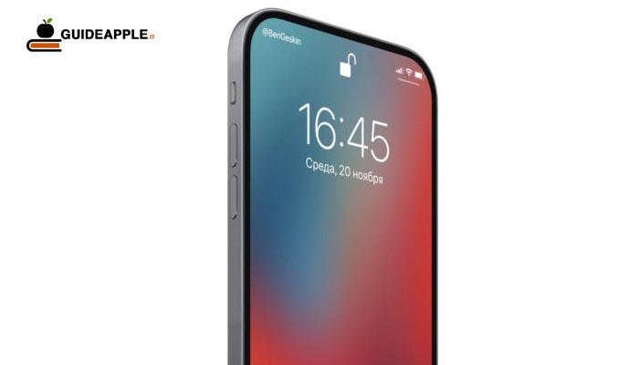 iPhone 2020: lettore d'impronte digitali sotto il display