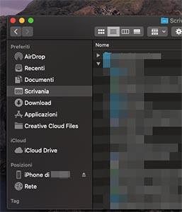 sincronizzare iphone con mac