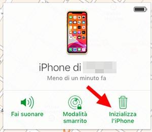 codice sblocco dell'iphone dimenticato