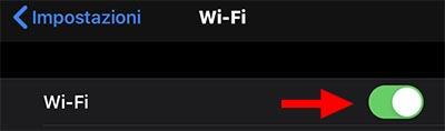 attiva il wifi su iphone