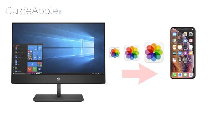 Come trasferire foto da PC a iPhone