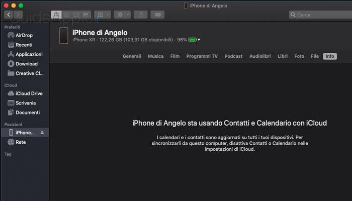 Eliminare backup di iPhone e iPad dal Mac