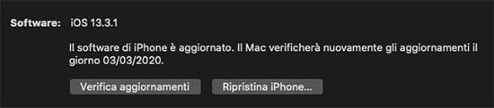 aggiornare iphone con mac o pc