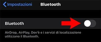 bluetooth dell'iPhone non funziona