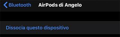 disconetti airpods