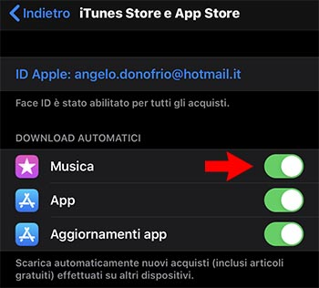 download automatici apple music non funziona