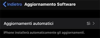 problema aggiornamenti automatici iphone